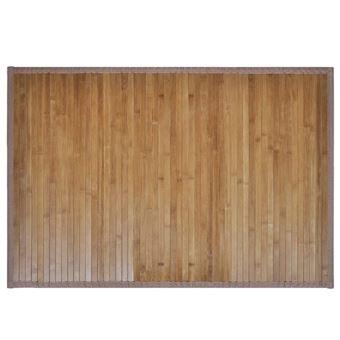 vidaXL 2 Tapis de bain salle de bains en bambou Antidérapant 40 x 50 cm  Marron