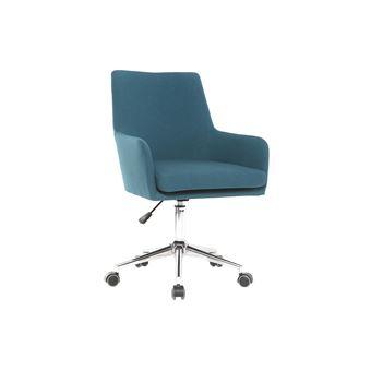 fauteuil de bureau design tissu bleu canard shana achat prix fnac. Black Bedroom Furniture Sets. Home Design Ideas