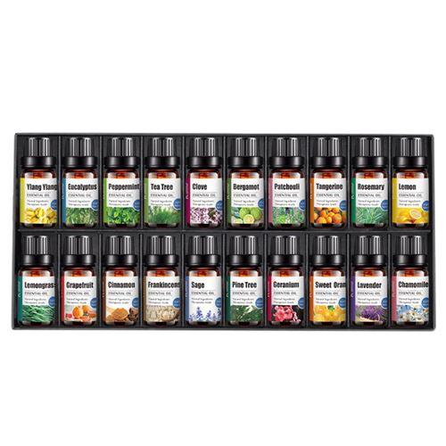 Huile essentielle essentielle d'aromathérapie naturelle 100% pure 10ml 20 bouteilles coffret cadeau - Multicolore