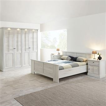 Chambre adulte contemporaine ARIZONA - L 140 x P 200 x H 70 cm