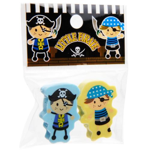 Set 2 Gommes Pirate 3.5 Cm Scolaire Papeterie Cadeau D Enfant Anniversaire Kermesse