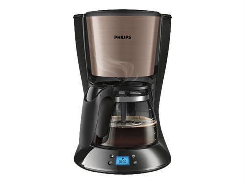 Philips Daily Collection HD7459 - Cafetière - 15 tasses - métal cuivre