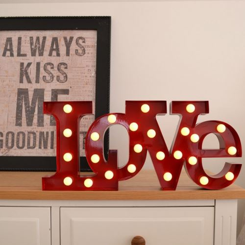 Lampe glamour love rouge - rouge