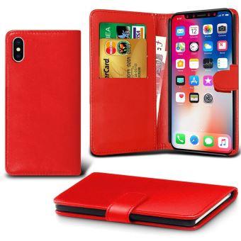Etui Houe Portefeuille Pour Apple iPhone XR Rouge