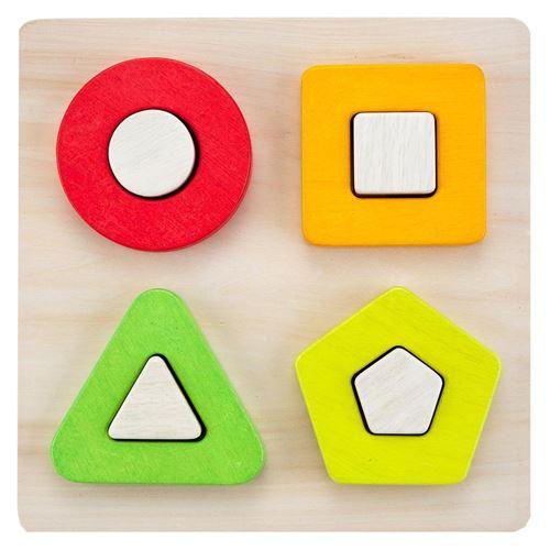 Puzzle en bois de logique encastrement de formes géométriques