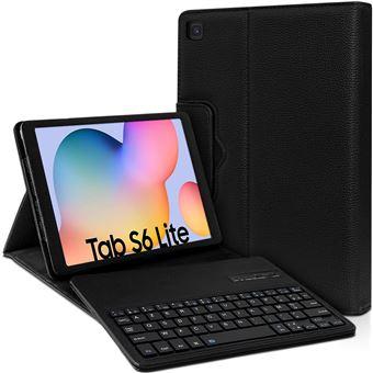 Étui de Protection Noir avec Clavier Bluetooth Azerty Français pour Samsung Galaxy Tab S6 Lite 10.4 P610