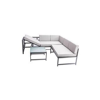 Beau rivage salon de jardin table basse avec canape et fauteuil 2 ...