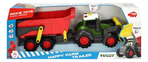 Dickie Toys tracteur Fendt Happy Farm Trailer