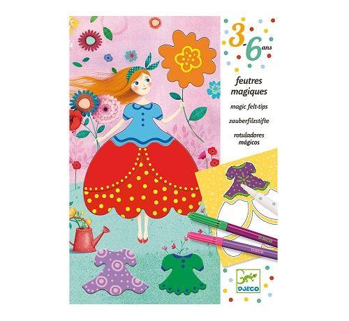 Feutres magiques les jolies robes de marie - djeco 3-6 ans