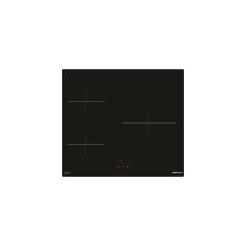 Airlux ATI630BK - Table de cuisson à induction - 3 plaques de cuisson - Niche - largeur : 56 cm - profondeur : 49 cm - noir