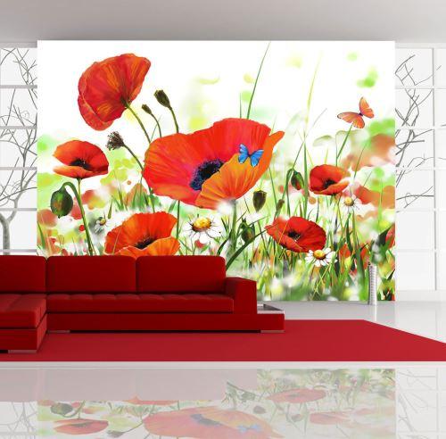 400x270 Papier peint Coquelicots Fleurs Splendide Country poppies