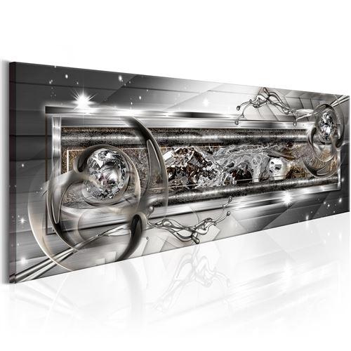 Paris Prix - Tableau Imprimé silver Source 40 X 120 Cm