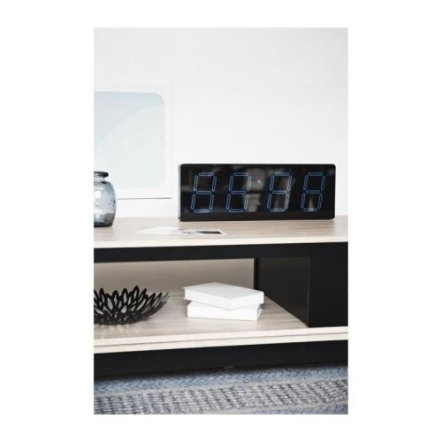 COBALTE Grande horloge affichage digital - 51x5xH18 cm