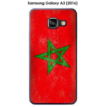Coque Samsung Galaxy A3 (2016) - A310F design Drapeau Maroc vintage