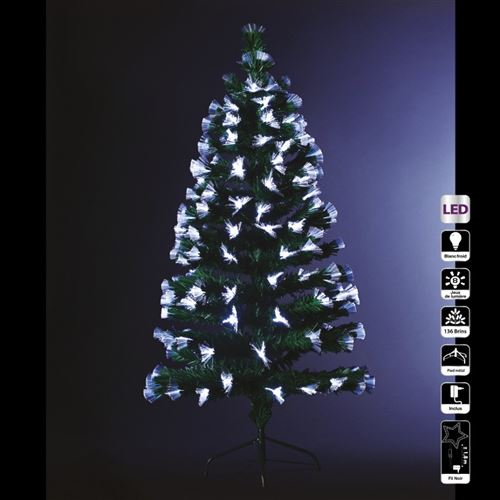 Sapin lumineux 120 cm vert fibre optique
