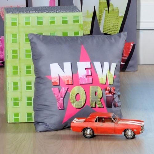 Coussin N.Y.C Fluo Star