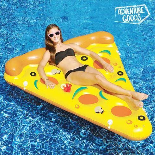 Matelas bouée Gonflable Pizza - Bouée part de pizza pour la mer et la piscine originale