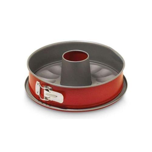 GUARDINI Moule démontable 2 fonds Rossana Ø24 cm gris et rouge