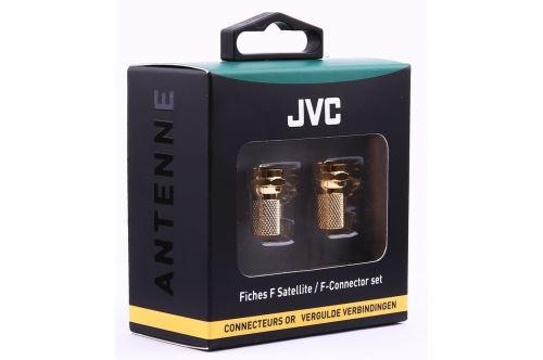 Set de 2 fiches F Satellite JVC Connecteurs Or