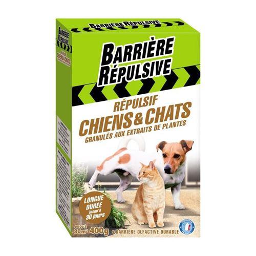 barriere repulsive répulsif chiens et chats - granulés prets a l'emploi - 400g