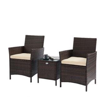Beau rivage ensemble table basse et 2 fauteuils myconos en ...