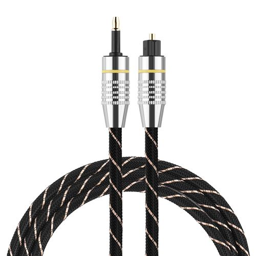 Câble audio Toslink vers Mini Plug Câble Audio 3.5mm SPDIF Connecteur Plaqué Or 2m