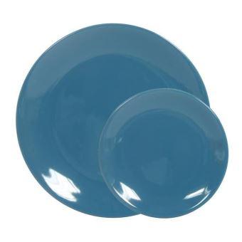 nouveau produit df877 c0524 Novastyl service de table 12 pieces ibiza - bleu paon ...