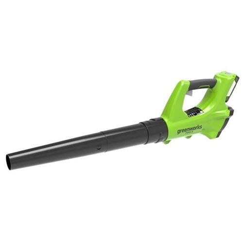 GREENWORKS Souffleur axial électrique G24ABK2 - 24 V - 1 batterie + 1 chargeur - Vert