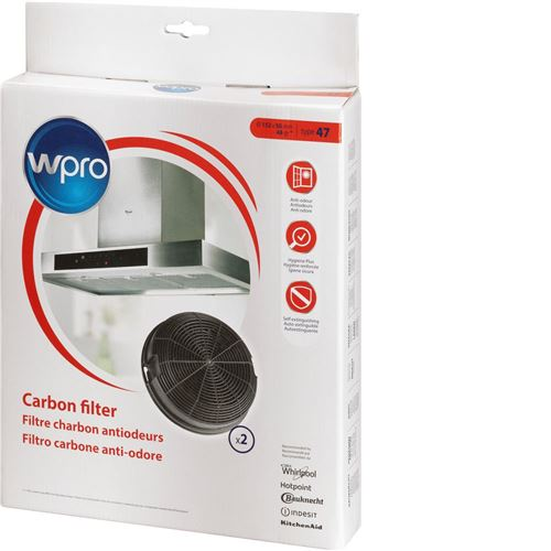 Wpro AMC023 2 Filtre Charbon pour Hotte Whirlpool AKR685