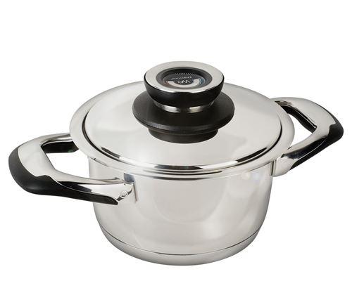 Warmcook - Faitout cuisson basse température 16 cm 1,8 L + Couvercle Ecovitam Inox 18/10