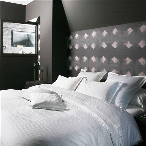 Taie d'oreiller satin Palace BLANC DES VOSGES - Blanc - 65 x 65 cm