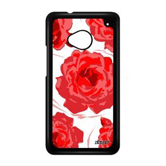Coque Pour One M7 Rose Fleur Etui 4g Tatouage Telephone Floral Amour