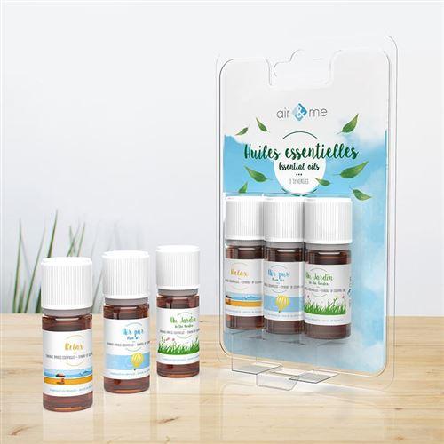 Pack de trois synergies d'huiles essentielles Bio (3 x 10 mL)