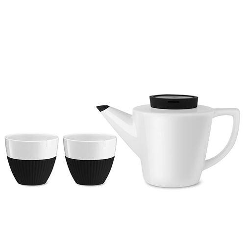 Viva Scandinavia (V24101) Service à thé en porcelaine Infusion™ (1l) - Noir