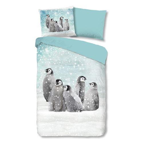 PARURE FLANELLE FAMILY FAMILY Muller Textiles Coton Bleu 140x200 cm