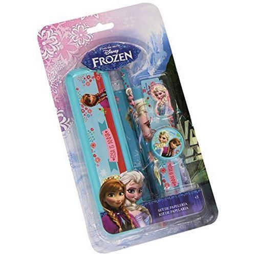 Set Papeterie Reine Des Neiges Frozen 5 Pcs Plumier Crayon Gomme Disney