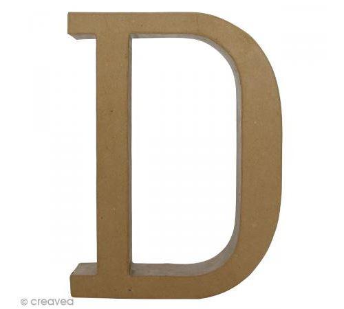 Lettre fantaisie D - 21,5 x 30 cm