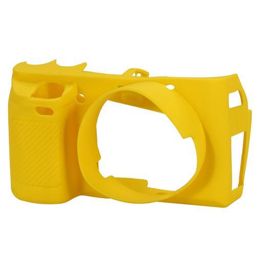 Etui de Protection En Silicone Souple Pour Boîtier D'appareil Photo Pour Sony A6000 Jaune