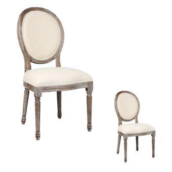 Duo De Chaises Louis XVI Tissu
