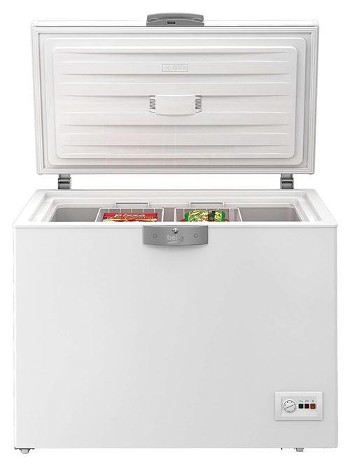 Beko HS22340 - Congélateur coffre - pose libre - largeur : 110.1 cm - profondeur : 72.5 cm - hauteur : 86 cm - 230 litres - Classe D - blanc