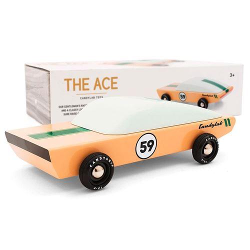 Petites voitures et mini modèles rétro classiques en bois Candylab Americana Véhicules design pour enfants et adultes - The Ace M0956