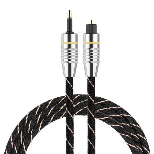 Câble audio Toslink vers Mini Plug Câble Audio 3.5mm SPDIF Connecteur Plaqué Or 1m