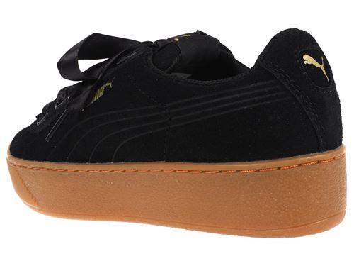 Chaussures Femme Puma Vikky Platform Ribbon Noires Taille 41