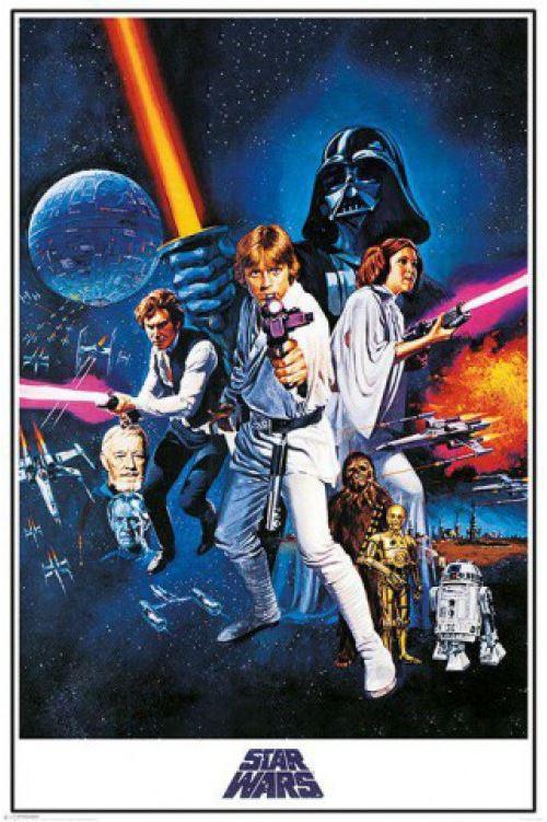 star wars poster - Épisode iv, un nouvel espoir, affiche de cinéma