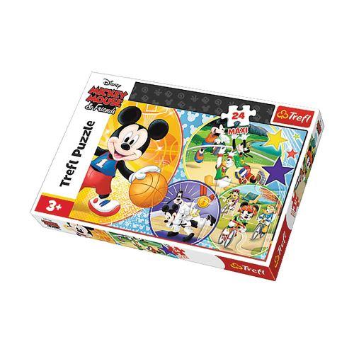 Puzzle Mickey L'heure du sport - + 3 ans - 24 pièces Maxi