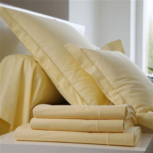 Taie d'oreiller Coton BLANC DES VOSGES - Jaune - 65 x 65 cm