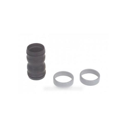 Raccord caoutchouc noir + 2 bagues grises pour aspirateur nilfisk advance - 7845522