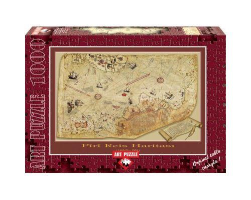 Puzzle 1000 Pièces : La Carte de Piri Reis, Art Puzzle
