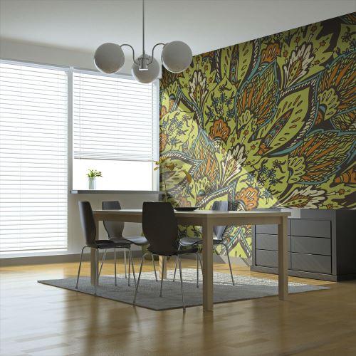 Papier peint | Motif printanier | 350x270 | Fonds et Dessins | Motifs floraux |