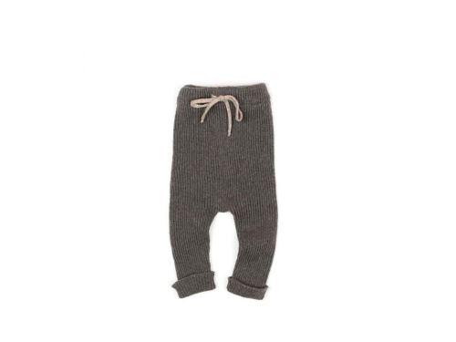 Message in the bottle - Pantalon Violet en laine gris chiné - 12 mois